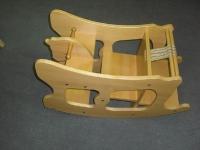 Massivholzmöbel 1 - Schaukelpferd-Hochstuhl-Kombination
