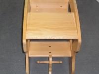 Massivholzmöbel 3 - Schaukelpferd-Hochstuhl-Kombination