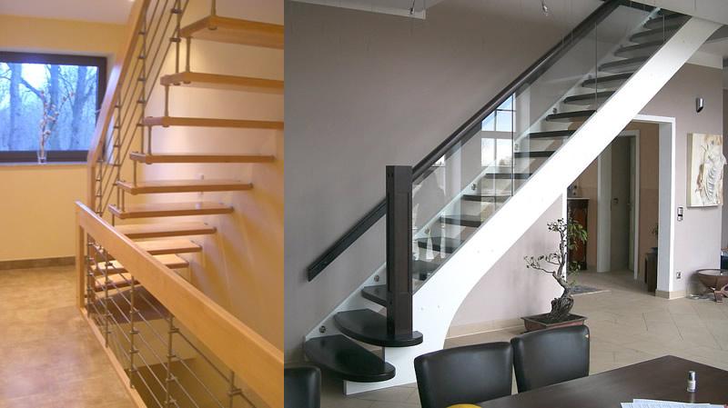 Foto mit zwei verschiedenen Treppen